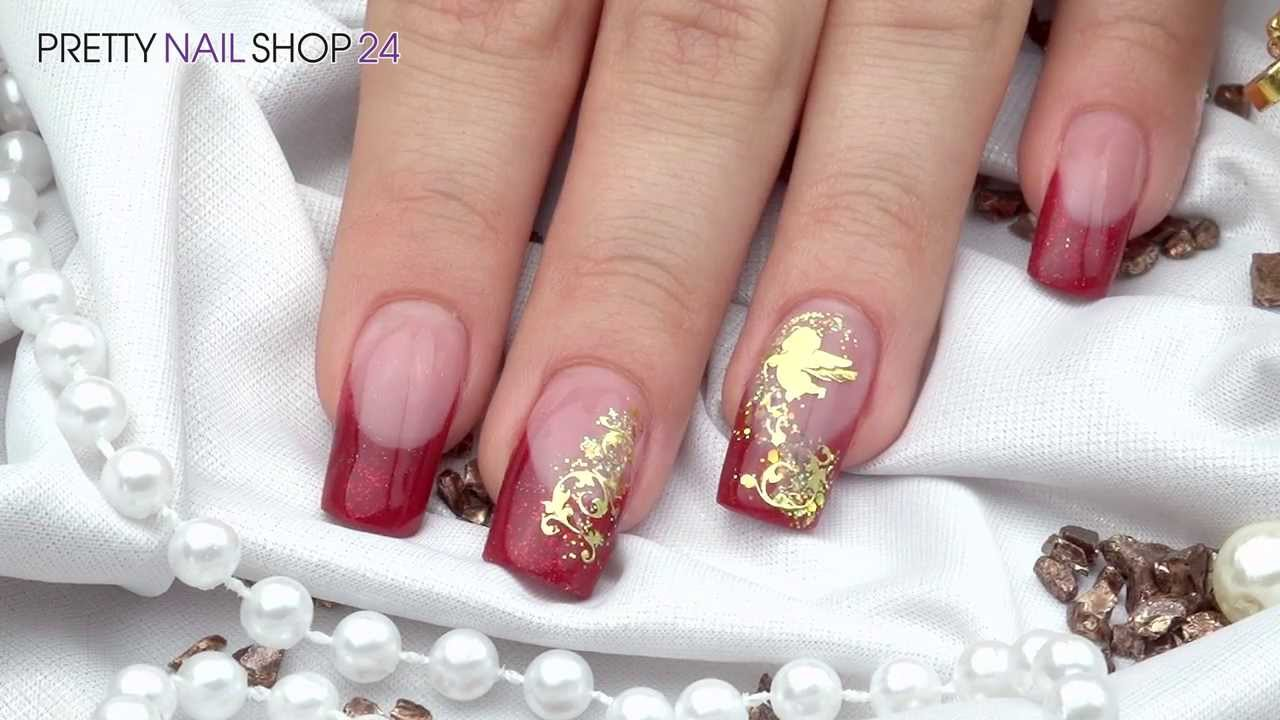 nailart weihnachts glitter sticker youtube