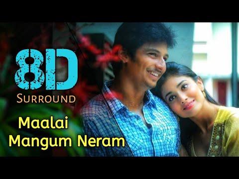 Download Maalai Mangum Neram 8D | Rowthiram | Jiiva | Shriya saran | Prakash Nikki | 8D BeatZ