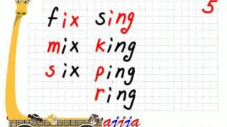 English Phonics 5   ix ing ang ung eng ong
