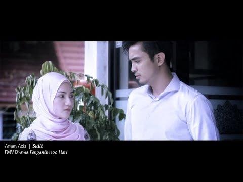 (OST PENGANTIN 100 HARI) Aman Aziz - Sulit (Lyric Video)