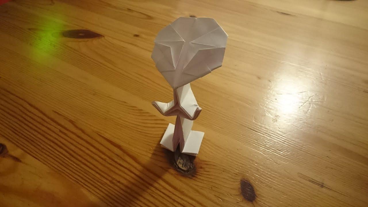 origami alien youtube