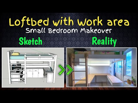 Loft Bed with Workstation/Gaming Area   SMDC Condominium   Small Bedroom Makeover VLOG