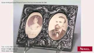Asian Antique Easel Picture Frame Chinese Accessories For