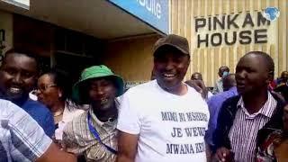 Bahati MP leads a demo in Nakuru Town to protest against President Kenyatta's 'washenzi' tag
