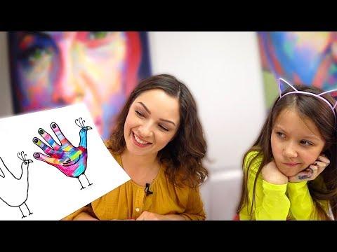 Рисунки руками видео