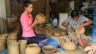 How to make traditional Pottery with my grandmother in my homeland