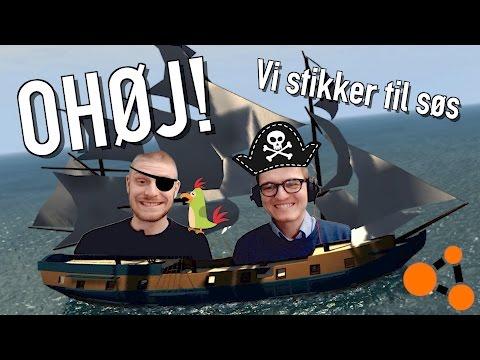 VI STIKKER TIL SØS I VORES SMUKKE SKIB! - Dansk BeamNG Drive - #5