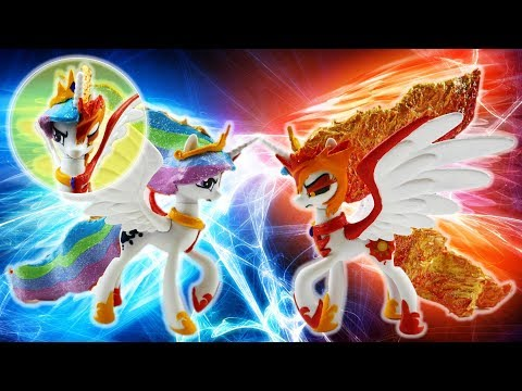 Princess Celestia and Daybreaker Transformation Split My Little Pony Custom