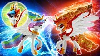Princess Celestia and Daybreaker Transformation Split My Little Pony Custom