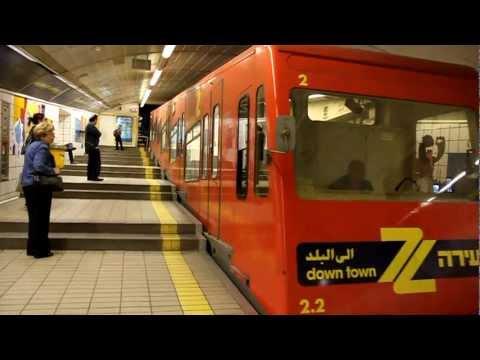 Carmelit Haifa metro subway 2010