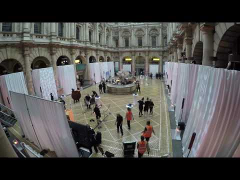Draping in The Royal Exchange