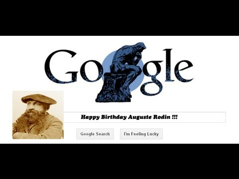 "Auguste Rodin Google Doodle  ""The Thinker"""