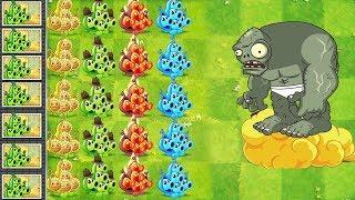 Plants vs Zombies 2 Mod - All Pea Pod vs Zomboss Fight !