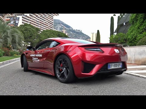 Honda NSX - Exhaust Sounds in Monaco!