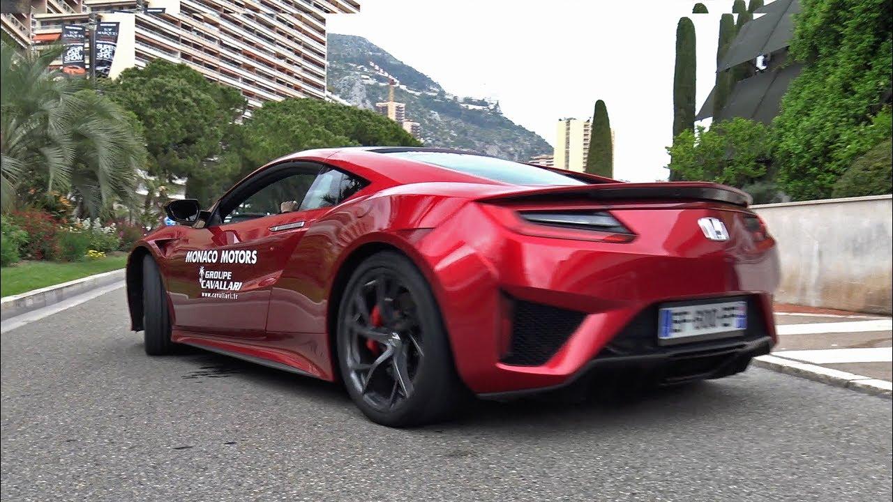 Honda NSX - Exhaust Sounds in Monaco!