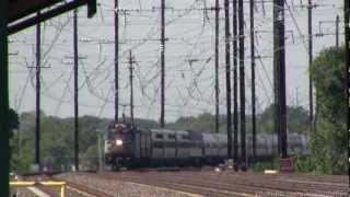 125 mph High-Speed NEC Action with Amtrak Business Cars & SEPTA at Bristol, PA 9/17/12