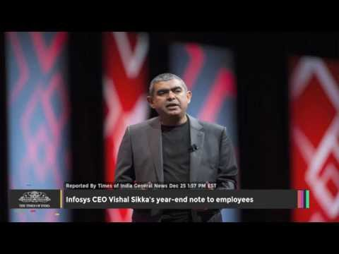 Infosys CEO Vishal Sikka's Year end Note to Employees - TOI