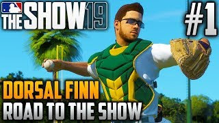Mlb The Show 19 Road To The Show | Dorsal Finn  Catcher  | Ep1 | Back Behind The Plate