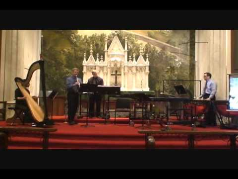 "Alan Hovhaness"" "" Koke No Niwa"" (Moss Garden) for clarinet, harp and percussion"