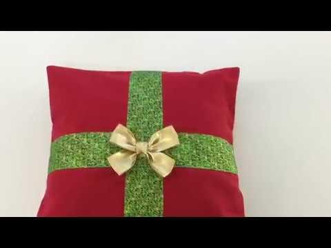coudre une housse de coussin de d coration de no l tuto couture madalena youtube. Black Bedroom Furniture Sets. Home Design Ideas