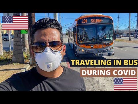 TRAVELING IN BUS DURING COVID IN AMERICA - KITNI SAFE HAI AMERICAN BUSES