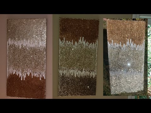 Z Gallerie inspired art Super simple DIY ZGallerie Glitter Wall Art