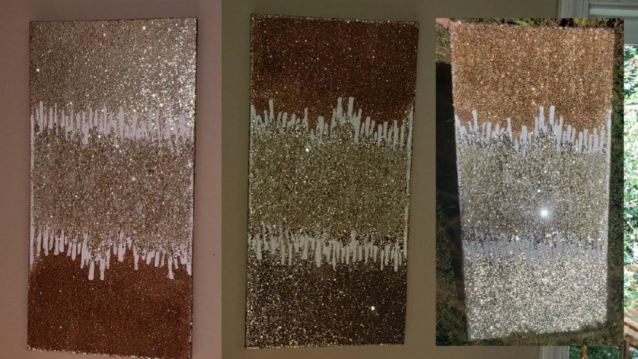 Z Gallerie inspired art Super simple DIY ZGallerie Glitter ...