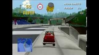 Mr. Plow - Homer - Springfield Dam (The Simpsons Road Rage Gameplay Part 51)