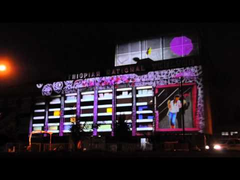 Projection mapping on the Ethiopian National Theatre