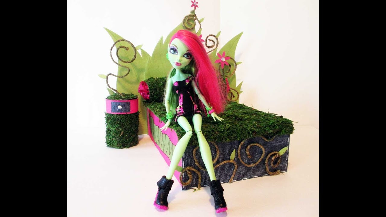 How To Make A Venus Mcflytrap Doll Bed Tutorial Monster