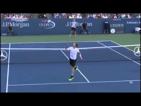 Andy Murray vs Kevin Anderson ᴴᴰ / Backhand Overhead Dropshot !!! / Tennis ATP US Open Finals