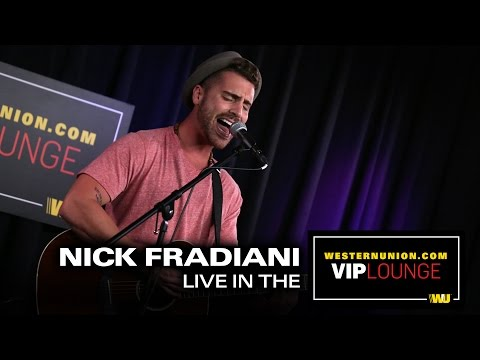Nick Fradiani performs live inside the WesternUnion com VIP Lounge