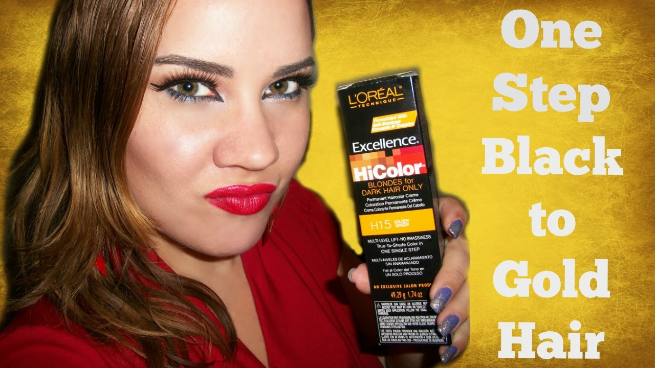 One Step Dark To Light No Bleach Hair Color Loreal Hicolor Golden