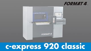 FORMAT-4® - c-express 920 classic - CNC Machining Centre (English)