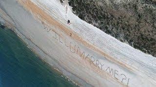 Shocking Beach Proposal