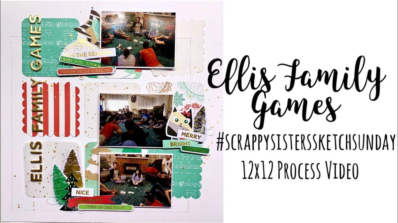 Sketch Sunday | Ellis Family Games | 12x12 Process Video | Jess