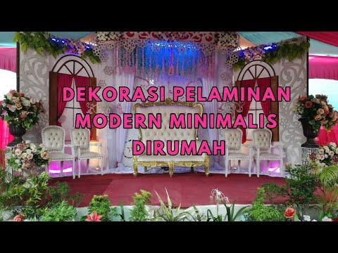 Dekorasi Pelaminan Modern Minimalis Terbaru 2018