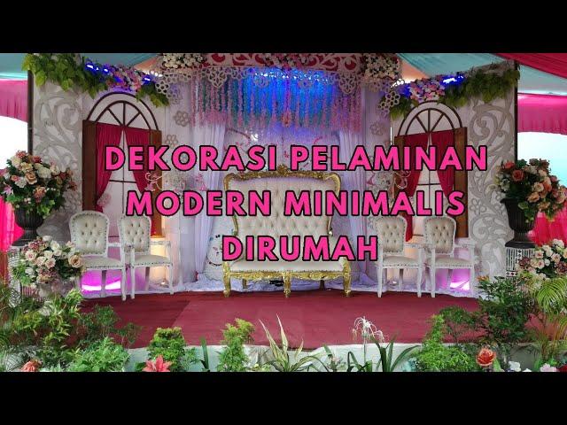 Dekorasi Pelaminan Pernikahan Bergaya Minimalis Modern