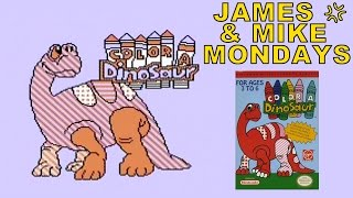 Color a Dinosaur (NES Video Game) James & Mike Mondays
