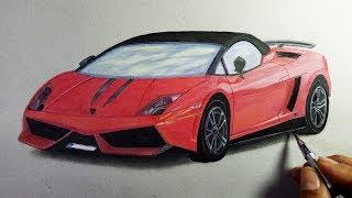 How to Draw a Car Lamborghini-Gallardo On Paper - Amazing 3D drawings Trick Art