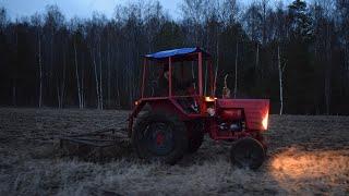 Tractor T 25 & Hankmo Harrow (1080p)