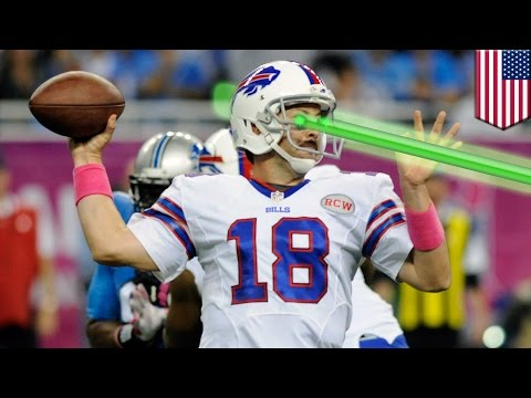 NFL fan cheat: Lasers blast Buffalo Bills Kyle Orton, Colton Schmidt during Lions NFL game