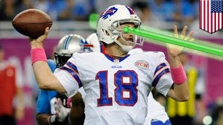 NFL fan cheat: Lasers blast Buffalo Bills Kyle Orton, Colton Schmidt during Lions NFL game