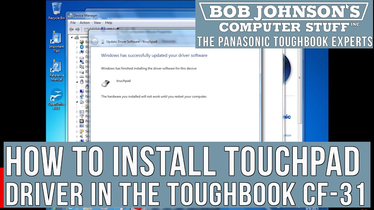 How to install the video driver in a panasonic toughbook cf-30.