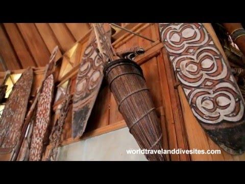 Modern day Papua tribe village, Baliem Valley, West Papua