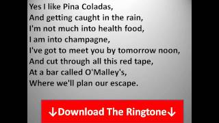 Rupert Holmes - Escape (The Pina Colada Song) Lyrics