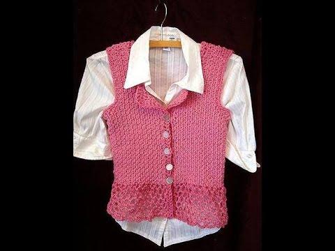 Crochet Sideways Vest Or Summer Top Sweater Video Pattern 3 To 6