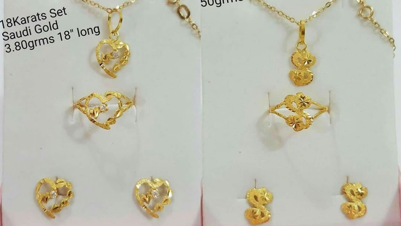 Small Size Gold Chain Pendant Sets Designs with Weight - YouTube