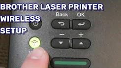 Brother Printer Wireless Setup using the Control Panel