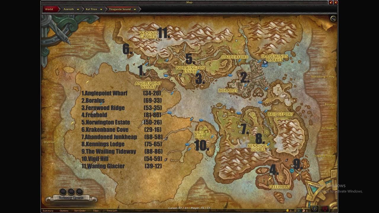 Tiragarde Sound Exploration [World Of Warcraft Battle For Azeroth Zone]